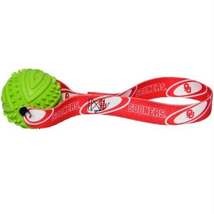 Oklahoma Sooners Rubber Ball Toss Toy - staygoldendoodle.com