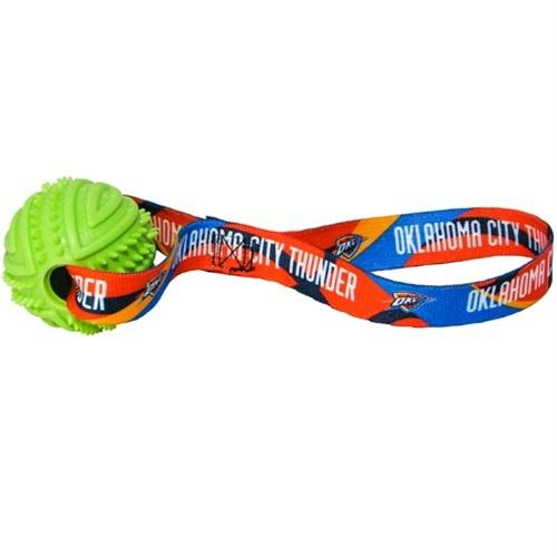 Oklahoma City Thunder Rubber Ball Toss Toy - staygoldendoodle.com