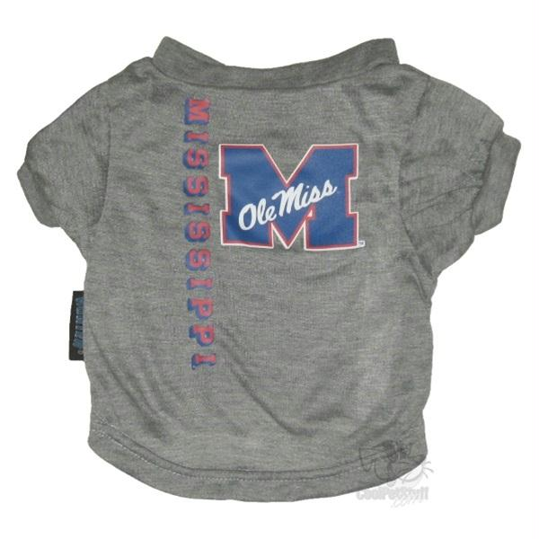 Ole Miss Rebels Heather Grey Pet T-Shirt - staygoldendoodle.com
