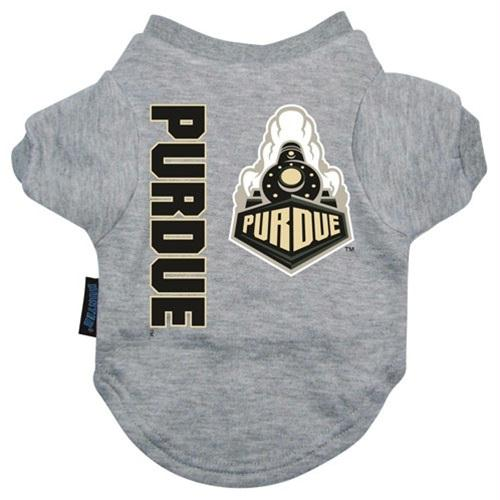 Purdue Boilermakers Heather Grey Pet T-Shirt - staygoldendoodle.com