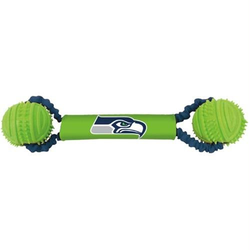 Seattle Seahawks Double Bungee Tug-N-Toss Toy - staygoldendoodle.com