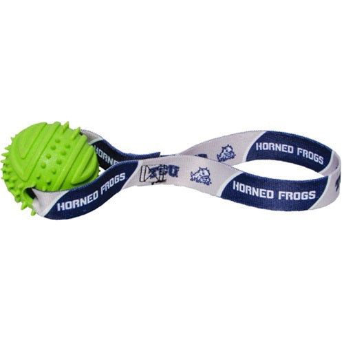 TCU Horned Frogs Rubber Ball Toss Toy - staygoldendoodle.com