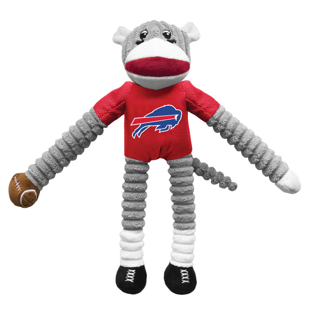 Buffalo Bills Sock Monkey Pet Toy