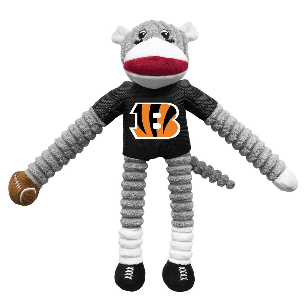 Cincinnati Bengals Sock Monkey Pet Toy