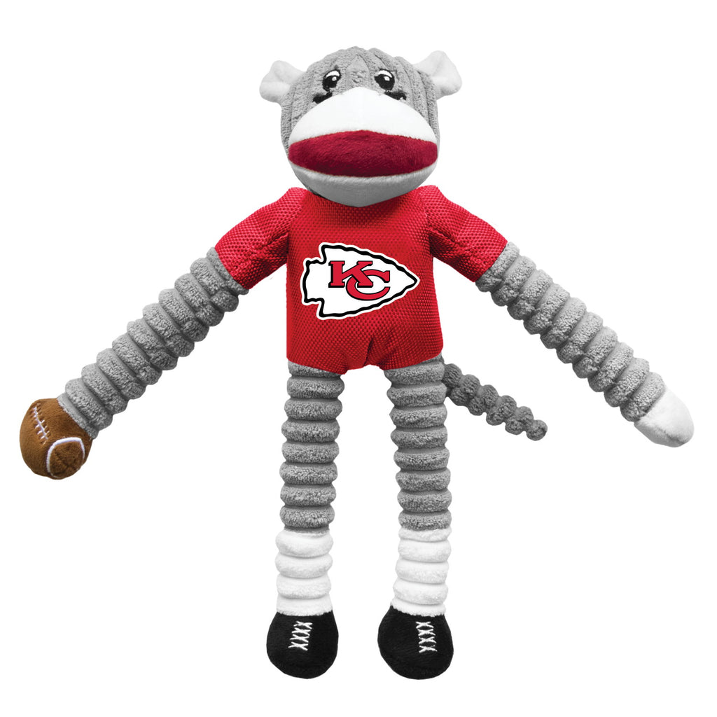 Kansas City Chiefs Sock Monkey Pet Toy