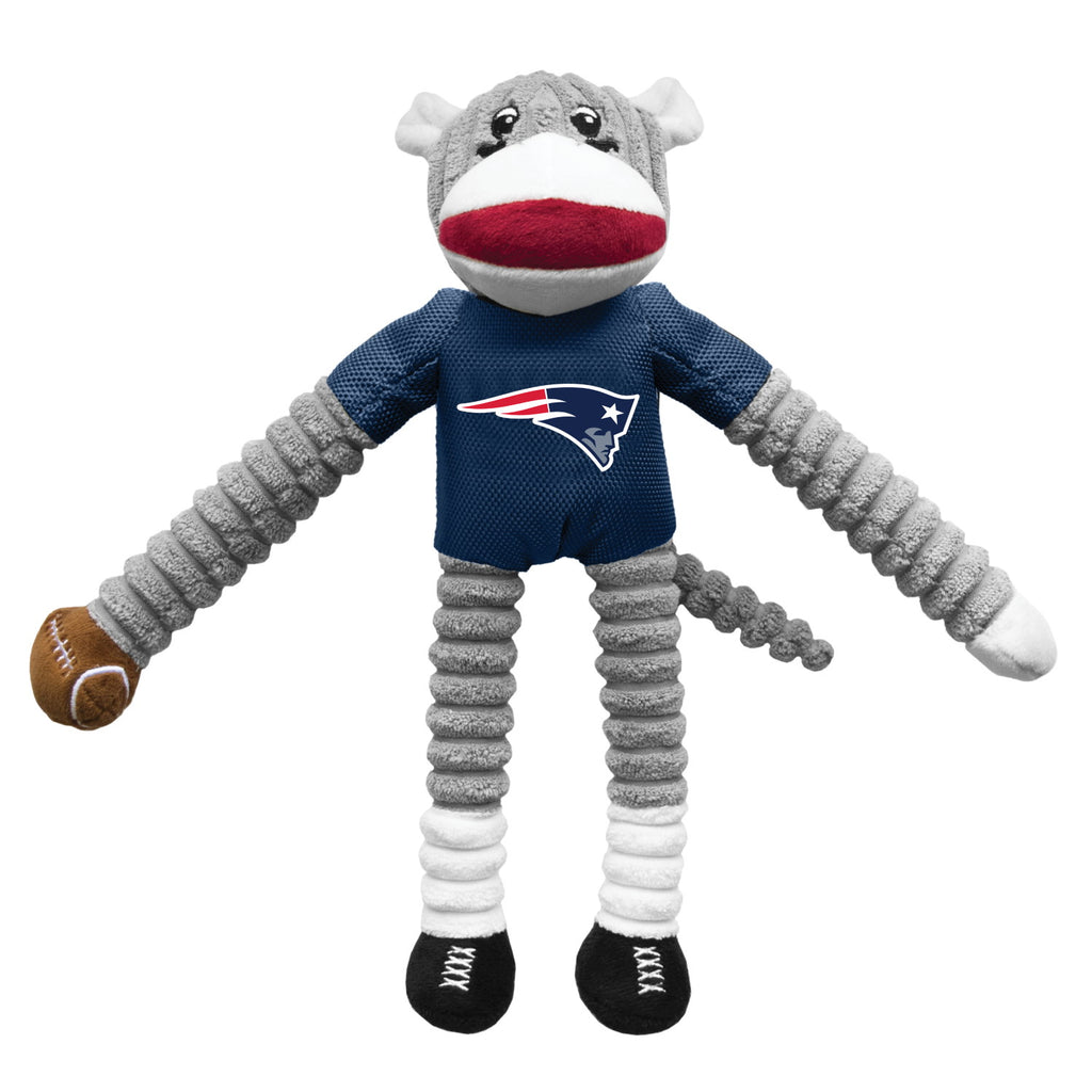 New England Patriots Sock Monkey Pet Toy