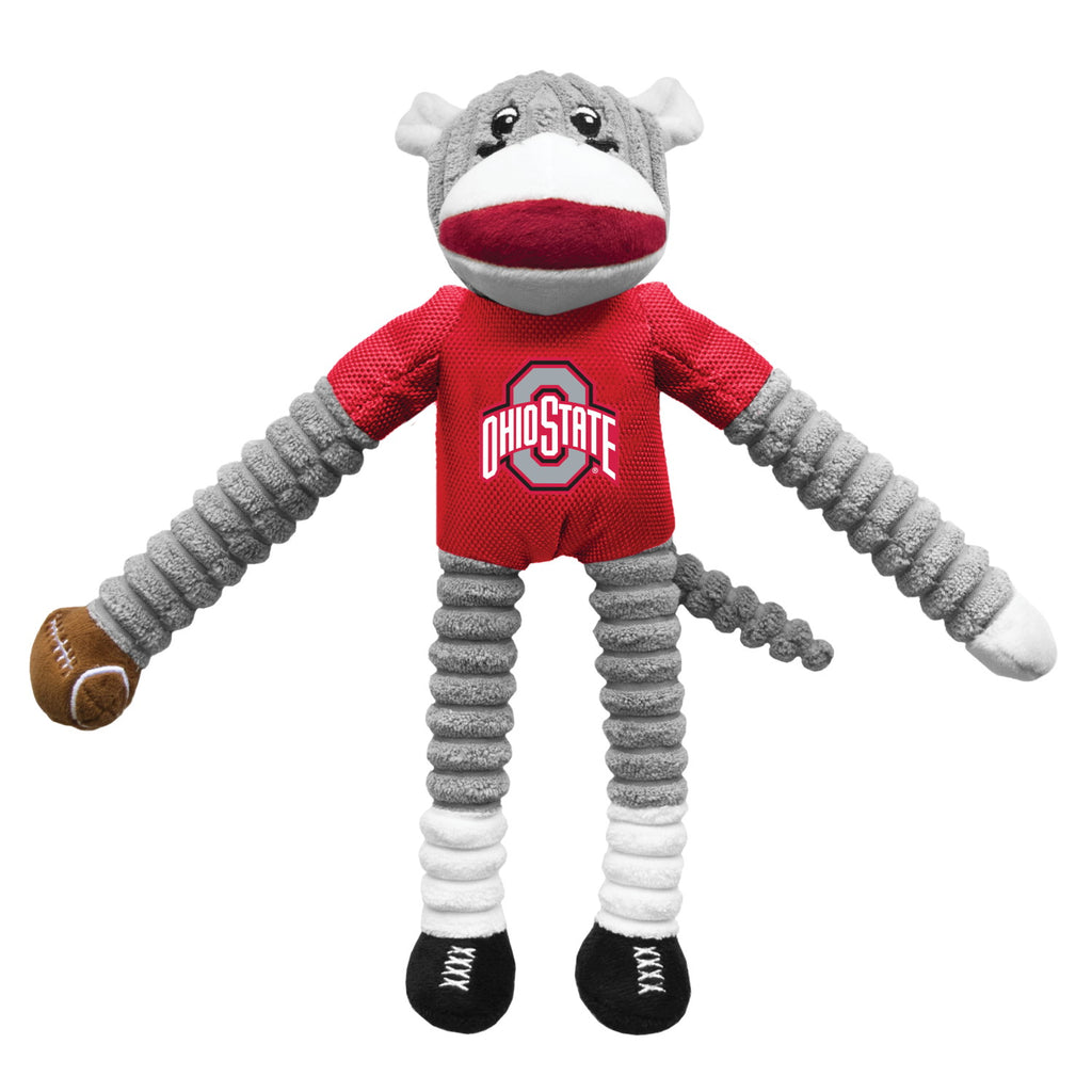 Ohio State Buckeyes Sock Monkey Pet Toy