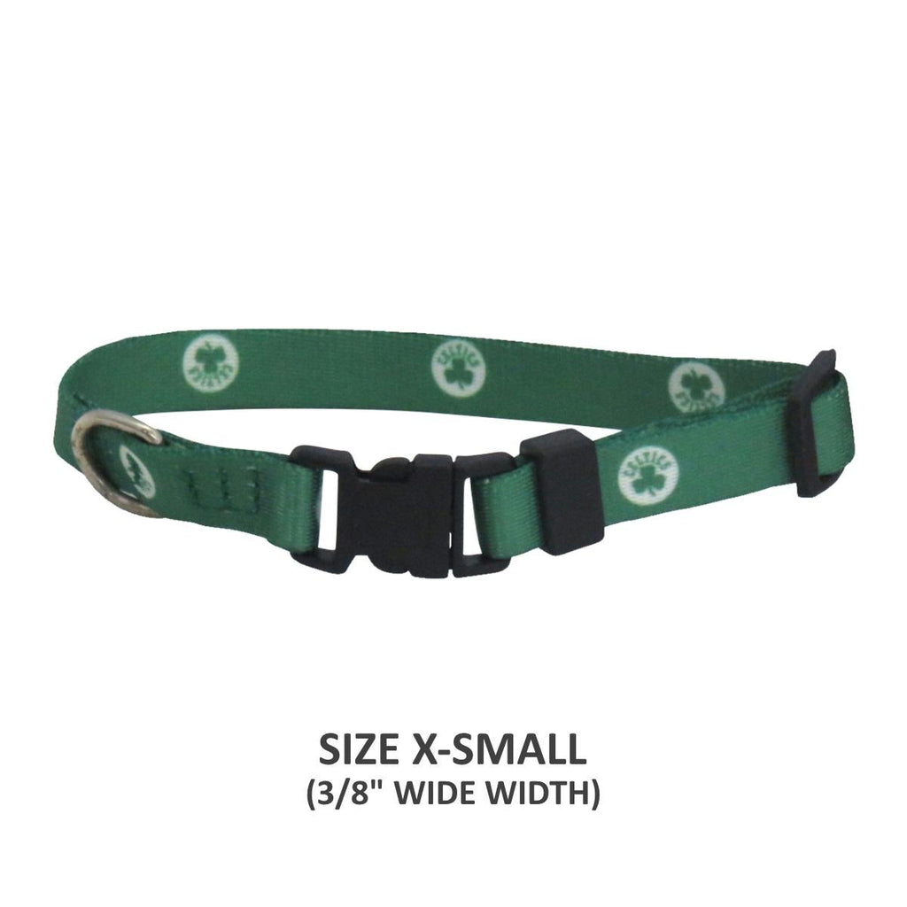 Boston Celtics Pet Nylon Collar - XS - staygoldendoodle.com