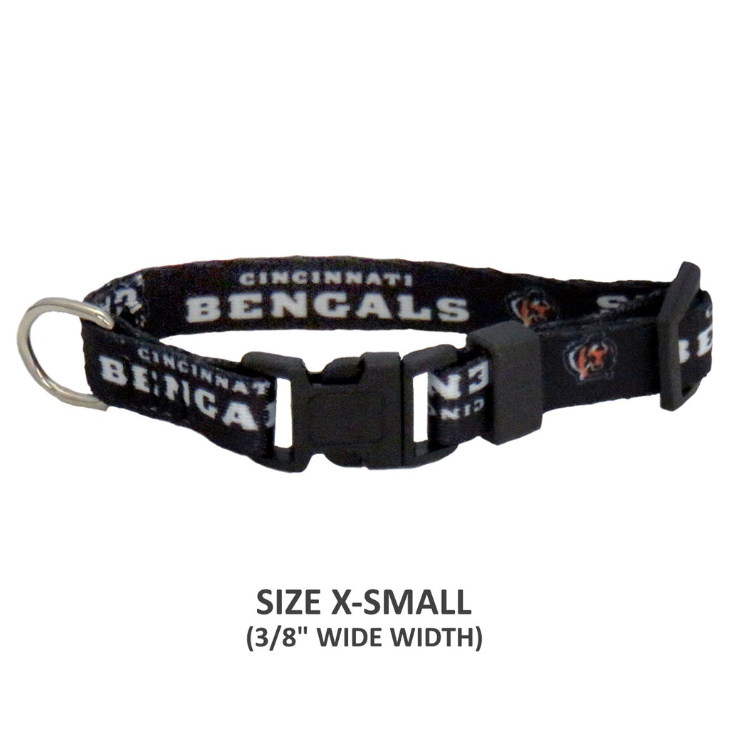 Cincinnati Bengals Pet Nylon Collar - Medium - staygoldendoodle.com