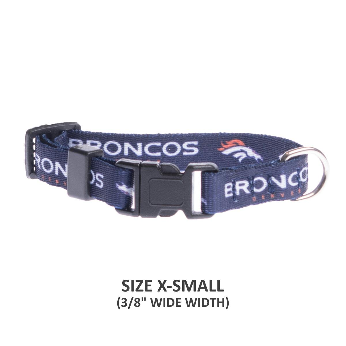 Denver Broncos Pet Nylon Collar - staygoldendoodle.com