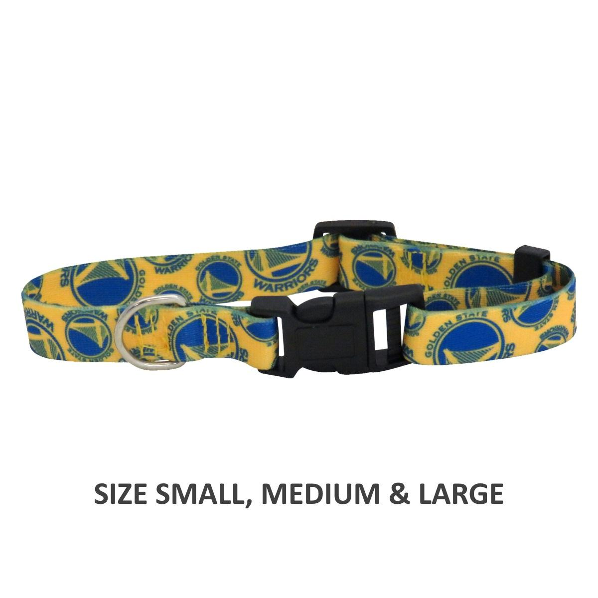 Golden State Warriors Pet Nylon Collar - Small - staygoldendoodle.com