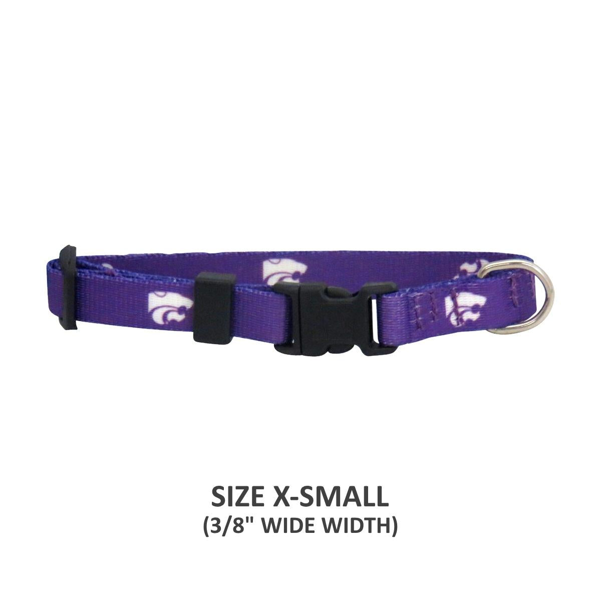 Kansas State Wildcats Pet Nylon Collar - staygoldendoodle.com
