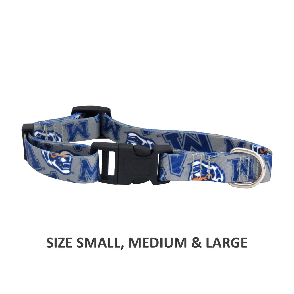 Memphis Tigers Pet Nylon Collar - Large
