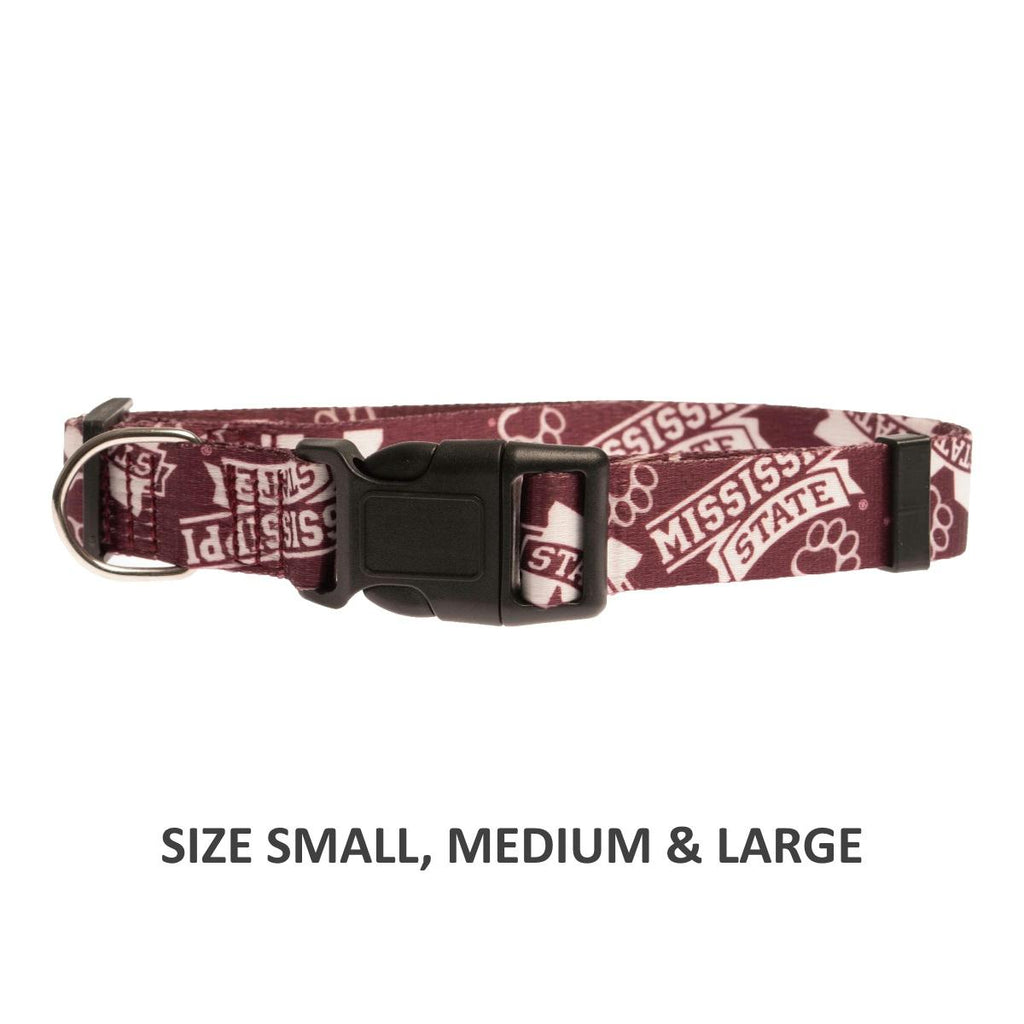 Mississippi State Bulldogs Pet Nylon Collar - Small - staygoldendoodle.com