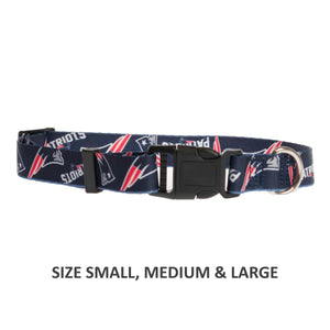 New England Patriots Pet Nylon Collar - staygoldendoodle.com