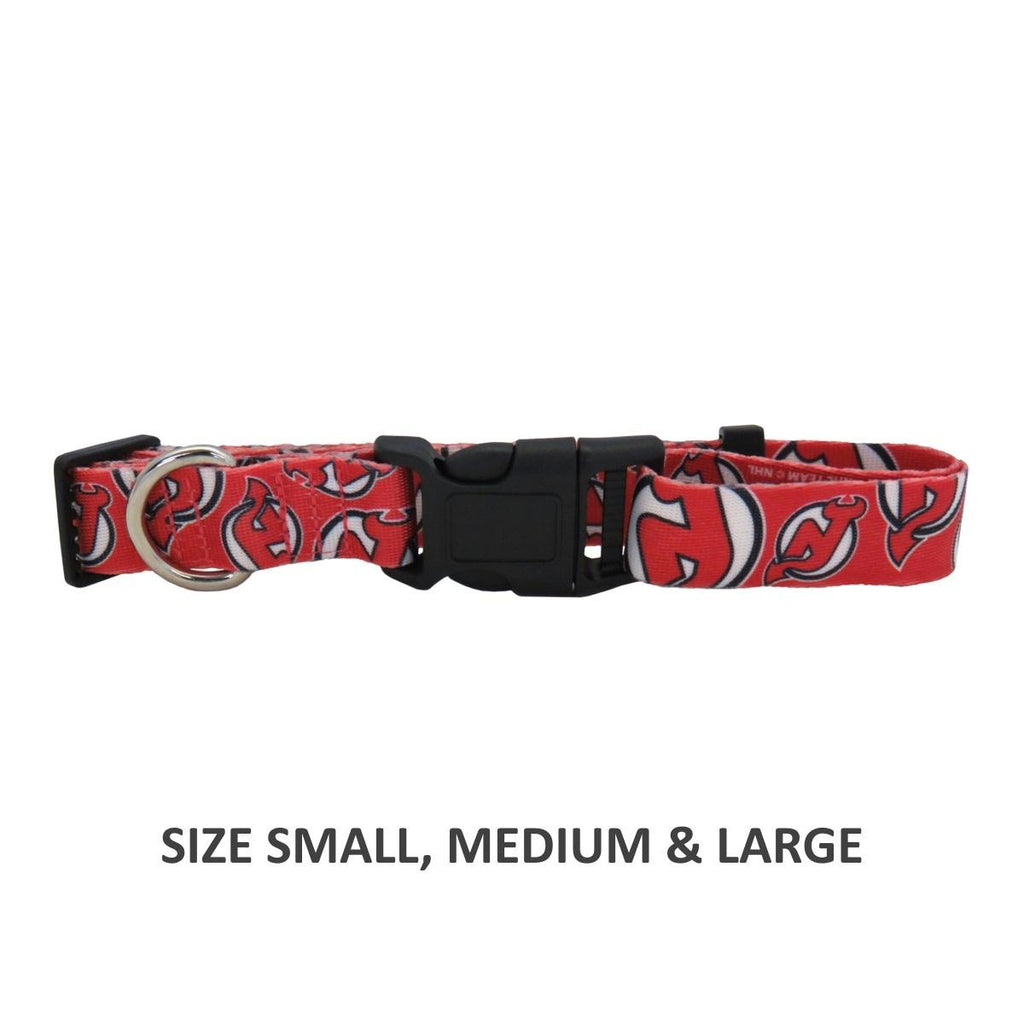 New Jersey Devils Pet Nylon Collar - Small - staygoldendoodle.com