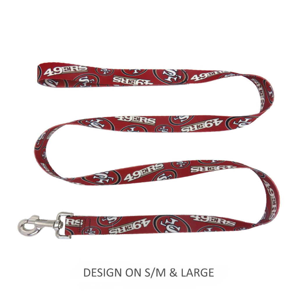 San Francisco 49ers Pet Nylon Leash - S/M