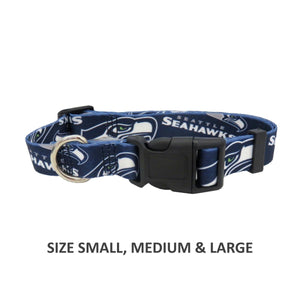 Seattle Seahawks Pet Nylon Collar - staygoldendoodle.com