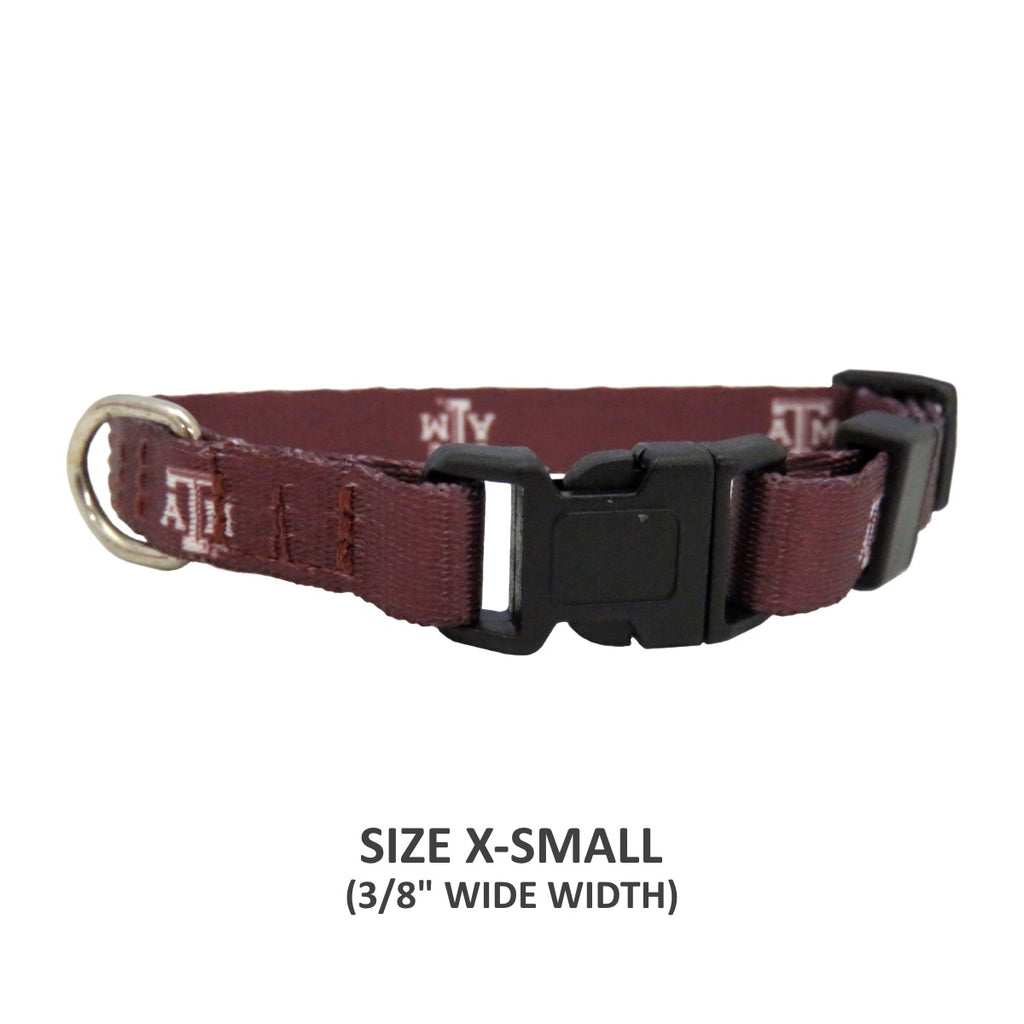 Texas A&M Aggies Pet Nylon Collar - Small - staygoldendoodle.com