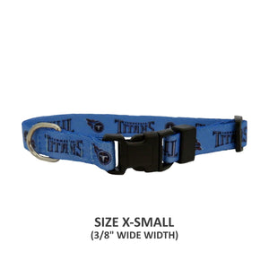 Tennessee Titans Pet Nylon Collar - staygoldendoodle.com