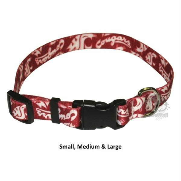 Washington State Cougars Pet Nylon Collar - Small - staygoldendoodle.com