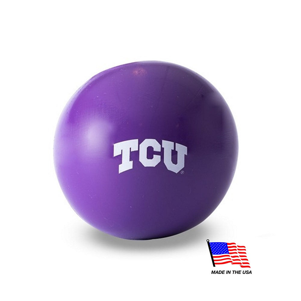 TCU Horned Frogs Purple Ruff Ball - staygoldendoodle.com