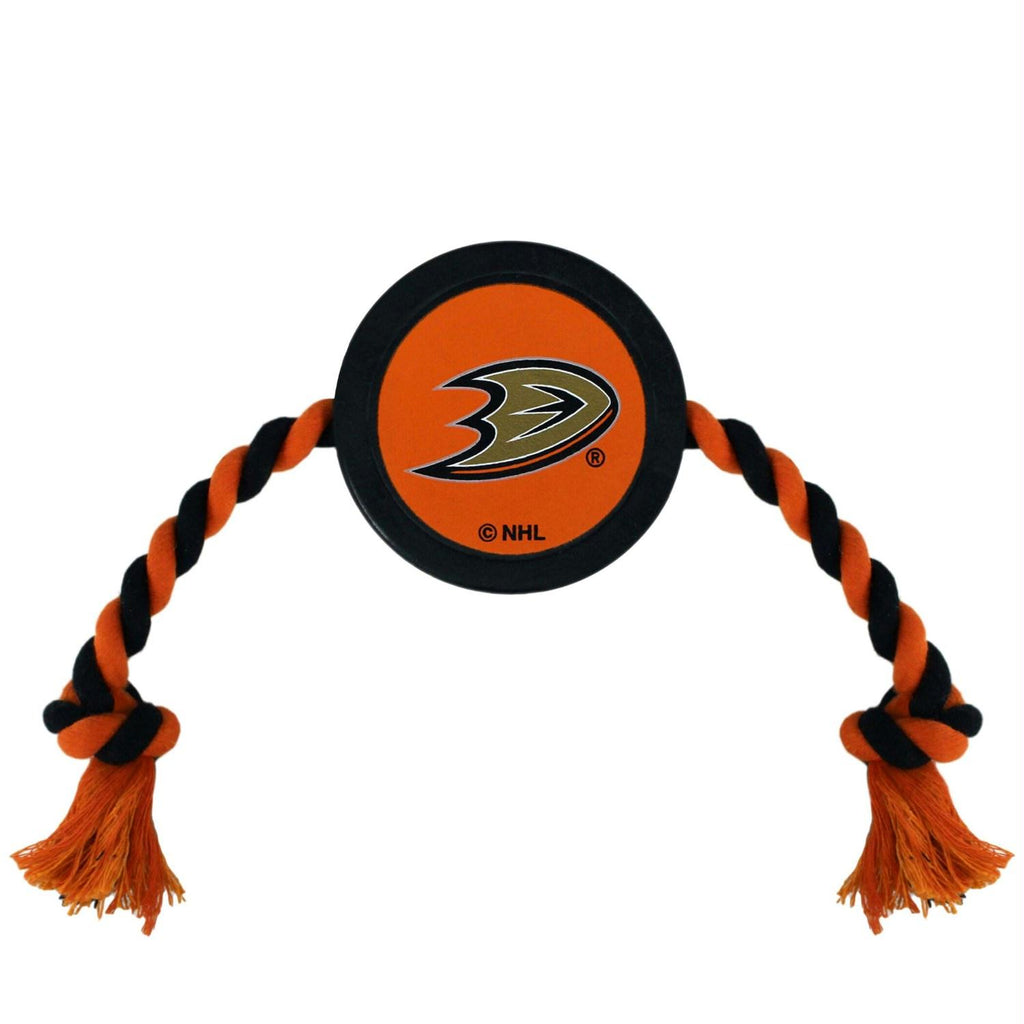 Anaheim Ducks Pet Hockey Puck Rope Toy - staygoldendoodle.com