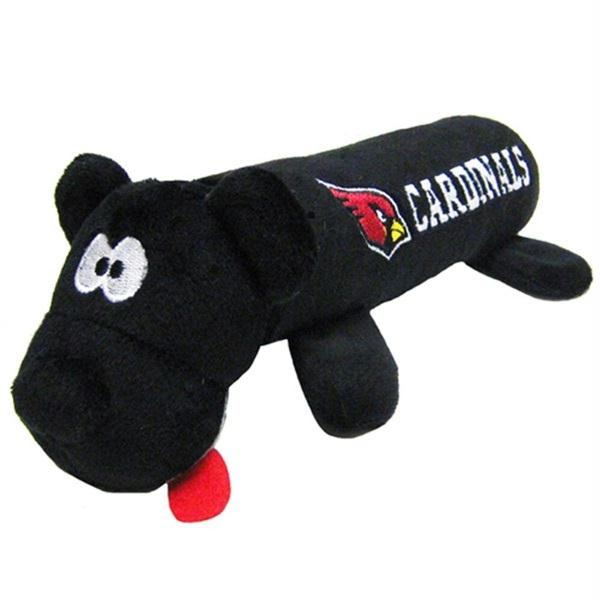 Arizona Cardinals Plush Tube Pet Toy - staygoldendoodle.com