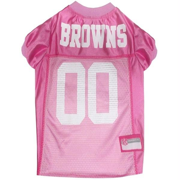 Cleveland Browns Pink Pet Jersey - staygoldendoodle.com
