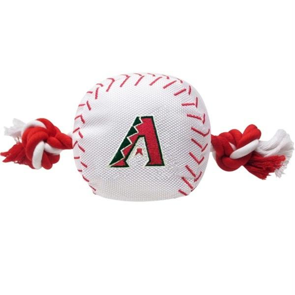 Arizona Diamondbacks Nylon Baseball Rope Tug Toy - staygoldendoodle.com