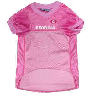 Georgia Bulldogs Pink Pet Jersey - staygoldendoodle.com