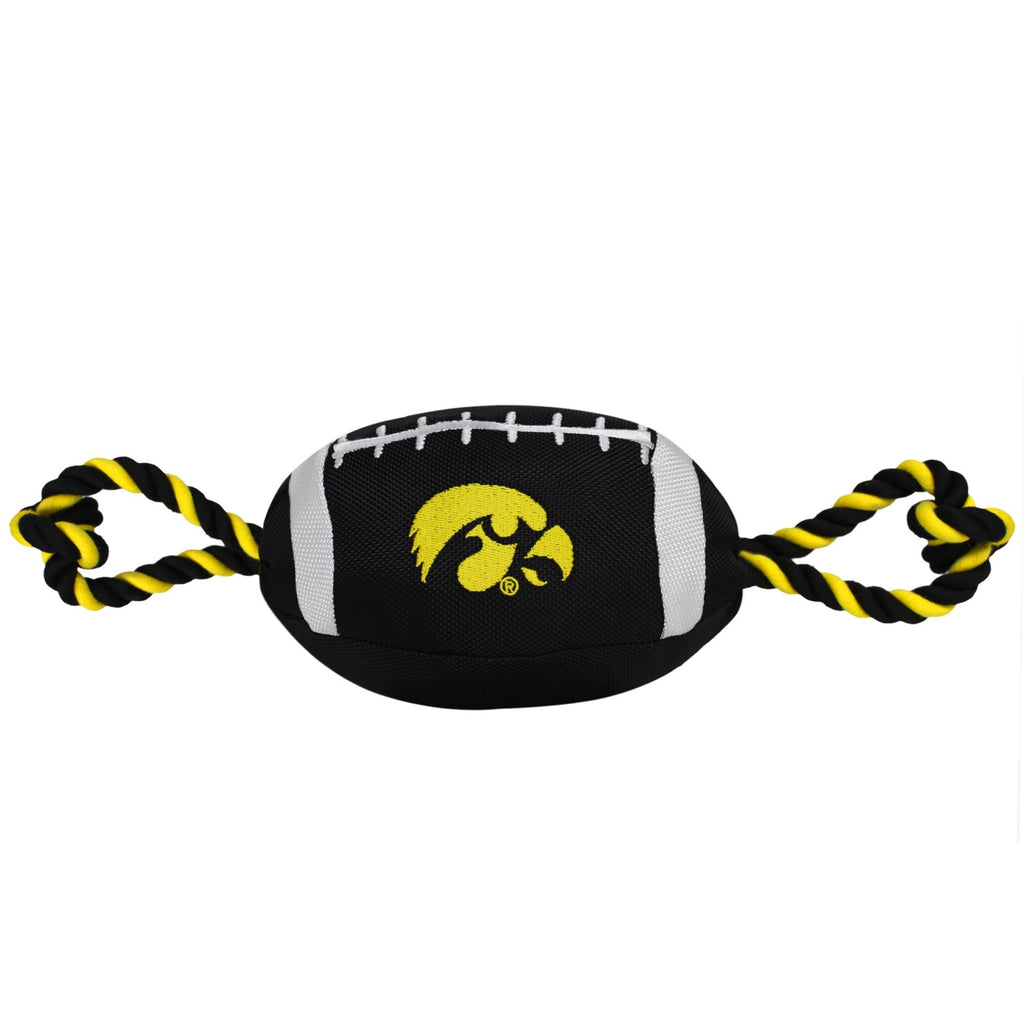 Iowa Hawkeyes Pet Nylon Football - staygoldendoodle.com