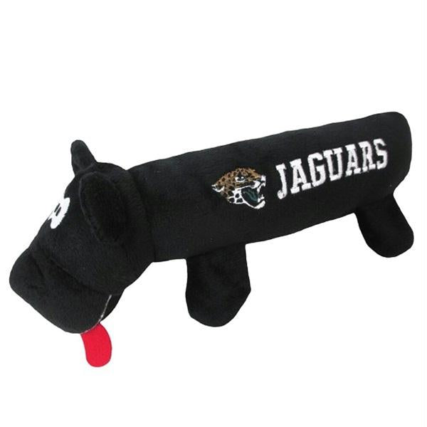 Jacksonville Jaguars Plush Tube Pet Toy - staygoldendoodle.com