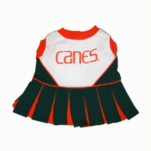 Miami Hurricanes Cheerleader Dog Dress - staygoldendoodle.com