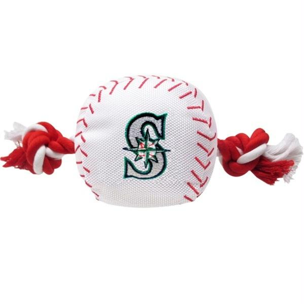 Seattle Mariners Nylon Baseball Rope Tug Toy - staygoldendoodle.com