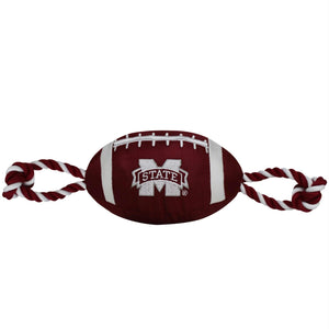 Mississippi State Bulldogs Pet Nylon Football - staygoldendoodle.com