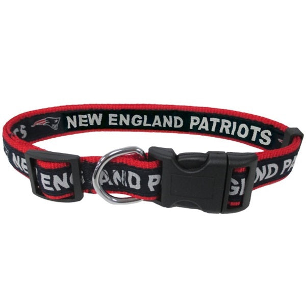 New England Patriots Pet Collar by Pets First - XL - staygoldendoodle.com