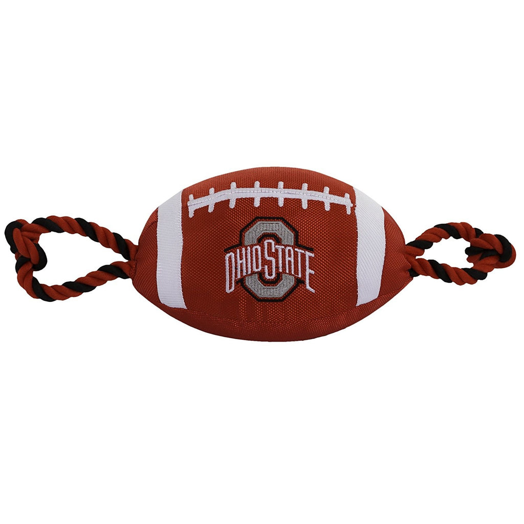 Ohio State Buckeyes Pet Nylon Football - staygoldendoodle.com