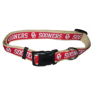 Oklahoma Sooners Pet Collar - staygoldendoodle.com