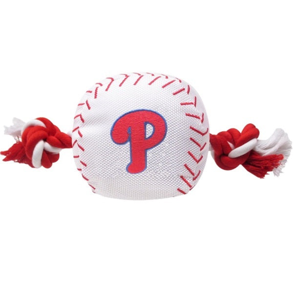 Philadelphia Phillies Nylon Baseball Rope Tug Toy - staygoldendoodle.com