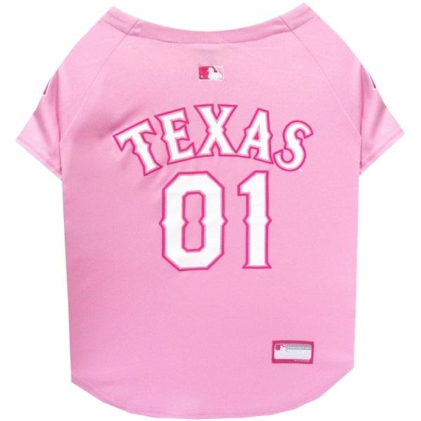 Texas Rangers Pink Pet Jersey - staygoldendoodle.com