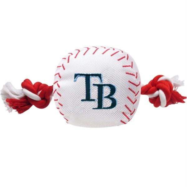 Tampa Bay Rays Nylon Baseball Rope Tug Toy - staygoldendoodle.com