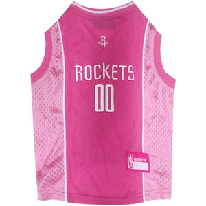 Houston Rockets Pink Pet Jersey - staygoldendoodle.com