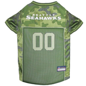 Seattle Seahawks Pet Camo Jersey - staygoldendoodle.com