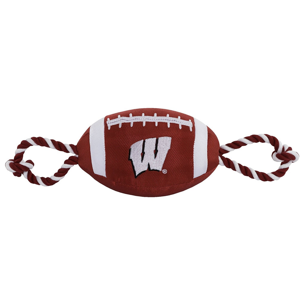 Wisconsin Badgers Pet Nylon Football - staygoldendoodle.com