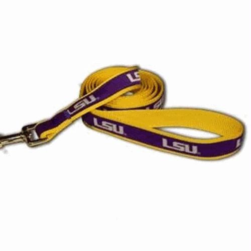 LSU Dog Leash Alternate Style - staygoldendoodle.com