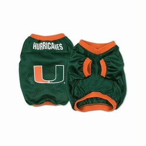 Miami Hurricanes Dog Jersey - Alternate Style - staygoldendoodle.com