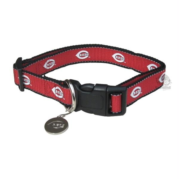 Cincinnati Reds Reflective Pet Collar - staygoldendoodle.com