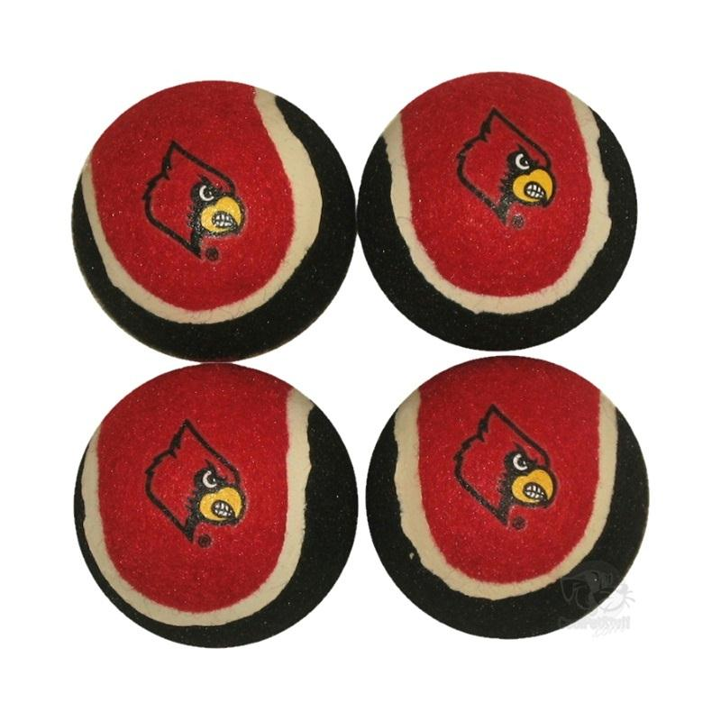 Louisville Cardinals Tennis Ball 4-Pak - staygoldendoodle.com