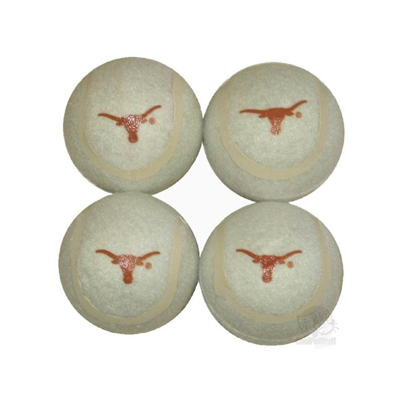 Texas Longhorns Tennis Ball 4-Pak - staygoldendoodle.com